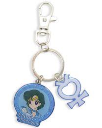 Sailor Moon: Sailor Mercury & Symbol Metal Keychain