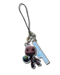 Little Big Planet: Holding Planet & Logo Cell Phone Charm