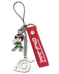 Naruto: Rock Lee Red Cell Phone Charm