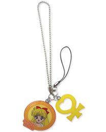 Sailor Moon: Sailor Venus & Symbol Metal Cell Phone Charm