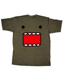 Domo T-Shirt: Fuzzy Face Mocha